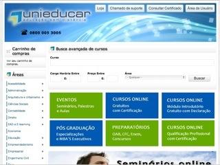 Thumbnail do site Unieducar Educação Sem Distãncia