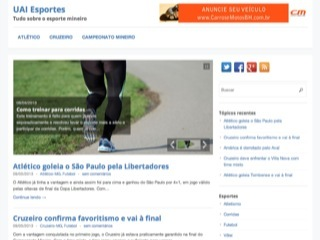 Thumbnail do site UAI Esportes - O melhor do esporte em Minas Gerais