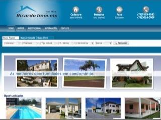 Thumbnail do site Ricardo Imóveis
