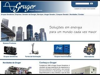 Thumbnail do site Gruger - Grupos Geradores