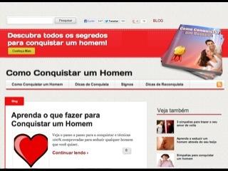 Thumbnail do site Como Conquistar um Homem
