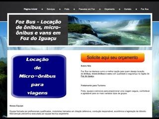 Thumbnail do site Foz Bus - Fretamento de ônibus e micro-ônibus