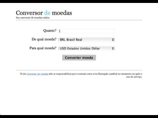 Thumbnail do site Conversor de Moedas