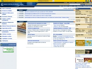 Thumbnail do site Banco Central do Brasil