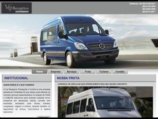 Thumbnail do site Vip Receptivo - Transporte e Turismo