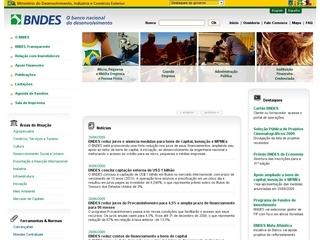 Thumbnail do site BNDES - Banco Nacional de Desenvolvimento Econômico e Social