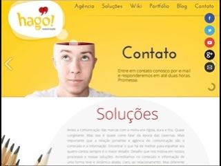 Thumbnail do site hago! Comunicação - Assessoria de imprensa