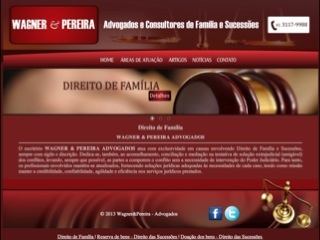 Thumbnail do site Wagner & Pereira Advogados