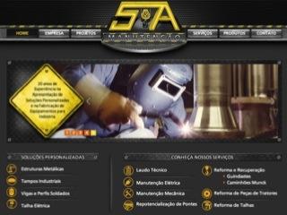 Thumbnail do site S&A Manutenção Ltda