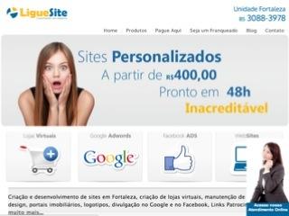 Thumbnail do site Ligue Site - Criação de Sites em Fortaleza