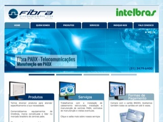 Thumbnail do site Fibra Telecomunicações Ltda