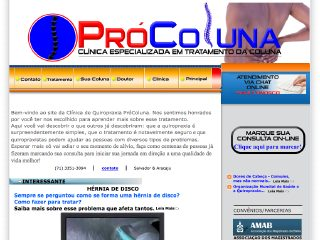 Thumbnail do site Clinica de Quiropraxia ProColuna -  Salvador