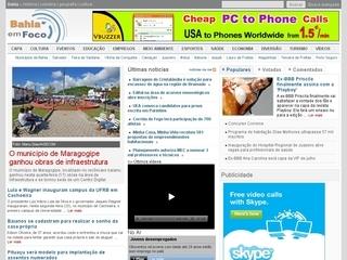Thumbnail do site Bahia em Foco