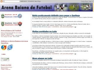 Thumbnail do site Arena Baiana Futebol