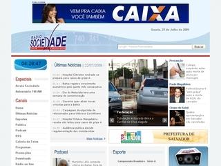 Thumbnail do site Rádio Sociedade da Bahia - 740 AM
