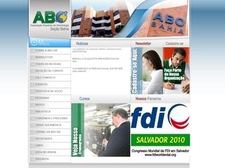 Thumbnail do site ABO - Associação Brasileira de Odontologia