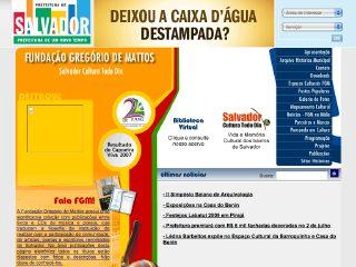 Thumbnail do site Fundação Gregório de Mattos - Cultura Todo Dia