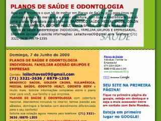 Thumbnail do site Planos de Saúde e Odontologia