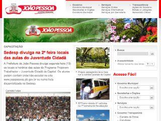 Thumbnail do site Prefeitura Municipal de João Pessoa