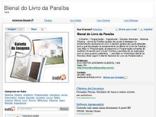 Thumbnail do site Bienal do Livro da Paraíba