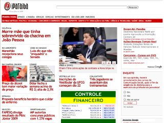 Thumbnail do site iParaíba