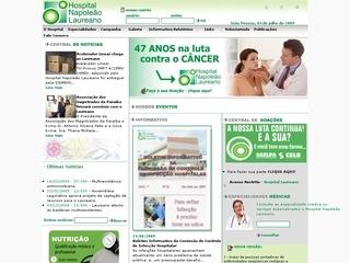 Thumbnail do site Hospital Napoleão Laureano
