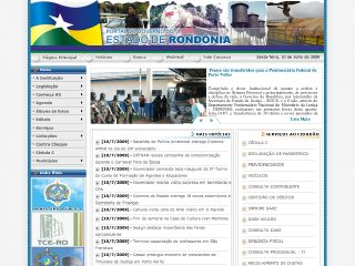 Thumbnail do site Governo do Estado de Rondônia