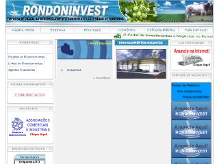 Thumbnail do site Rondoninvest.com.br