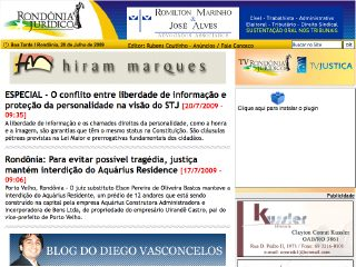 Thumbnail do site Rondônia Jurídico
