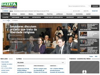 Thumbnail do site Gazeta Amazônica