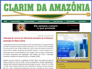 Thumbnail do site Clarim da Amazônia