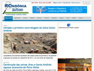 Thumbnail do site Rondônia In Foco