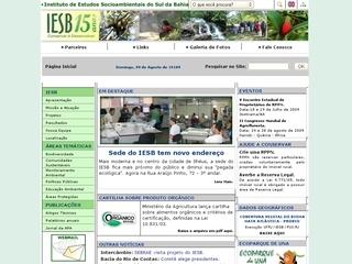 Thumbnail do site IESB - Instituto de Estudos Socioambientais do Sul da Bahia