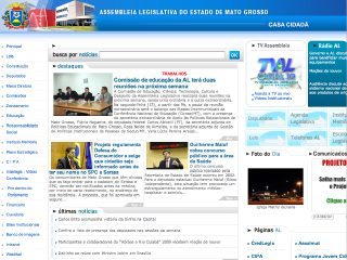 Thumbnail do site Assembléia Legislativa do Estado de Mato Grosso