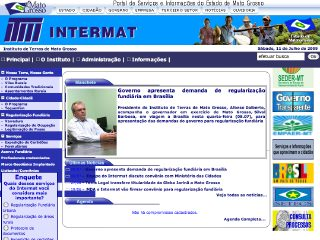 Thumbnail do site INTERMAT - Instituto de Terras de Mato Grosso