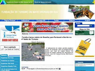 Thumbnail do site Fundação de Turismo do Mato Grosso do Sul
