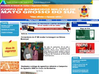 Thumbnail do site Corpo de Bombeiros Militar do Mato Grosso do Sul