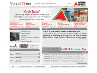 Thumbnail do site Governo do Estado de Minas Gerais