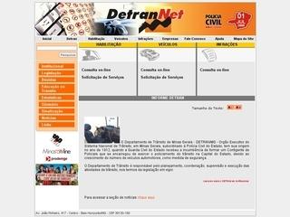 Thumbnail do site DETRAN - Minas Gerais