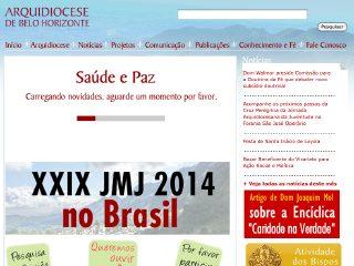 Thumbnail do site Arquidiocese de Belo Horizonte