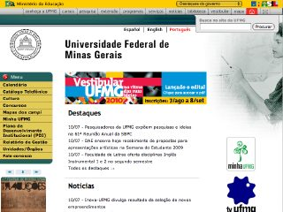 Thumbnail do site UFMG - Universidade Federal de Minas Gerais