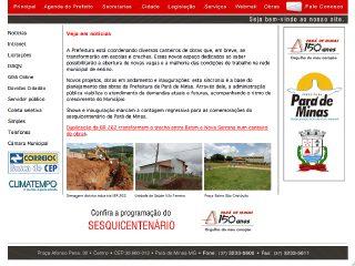 Thumbnail do site Prefeitura Municipal de Pará de Minas