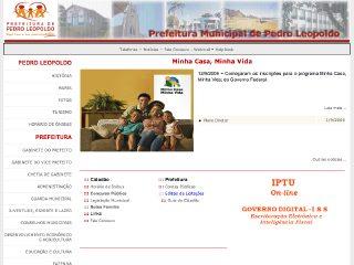 Thumbnail do site Prefeitura Municipal de Pedro Leopoldo