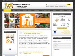 Thumbnail do site Prefeitura Municipal de Sabará