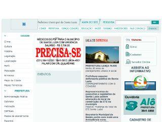 Thumbnail do site Prefeitura Municipal de Santa Luzia