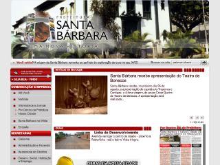 Thumbnail do site Prefeitura Municipal de Santa Bárbara