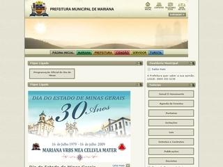 Thumbnail do site Prefeitura Municipal de Mariana