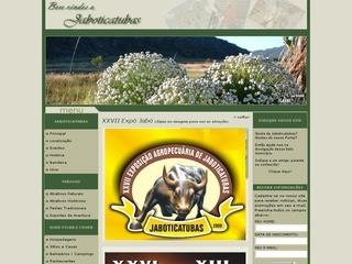 Thumbnail do site Jaboticatubas.com.br