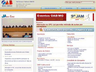 Thumbnail do site Ordem dos advogados do Brasil - Minas Gerais