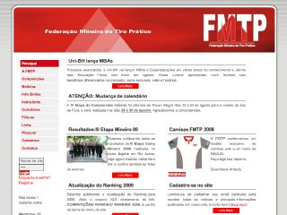 Thumbnail do site FMTP - Federação Mineira de Tiro Prático